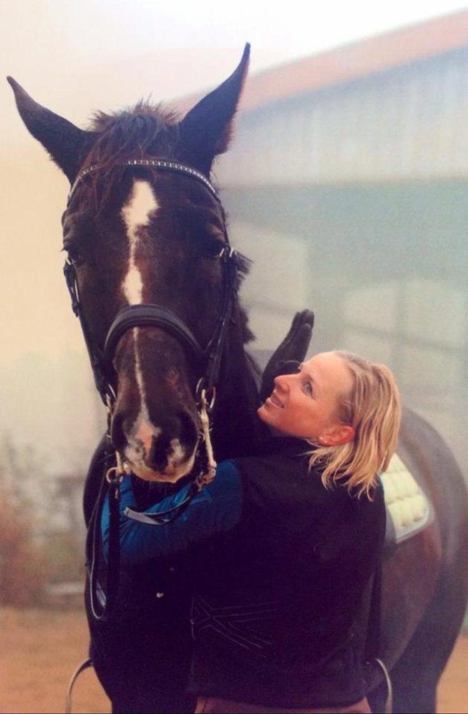 Tanja mit Pferd